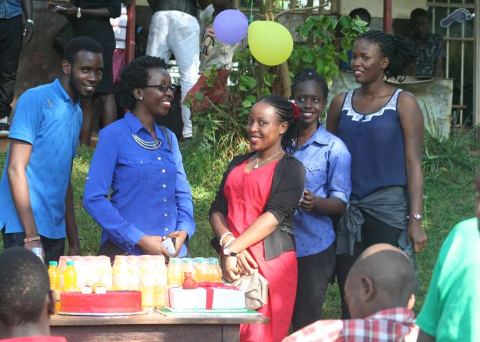 xmass party for disabled children of Uganda