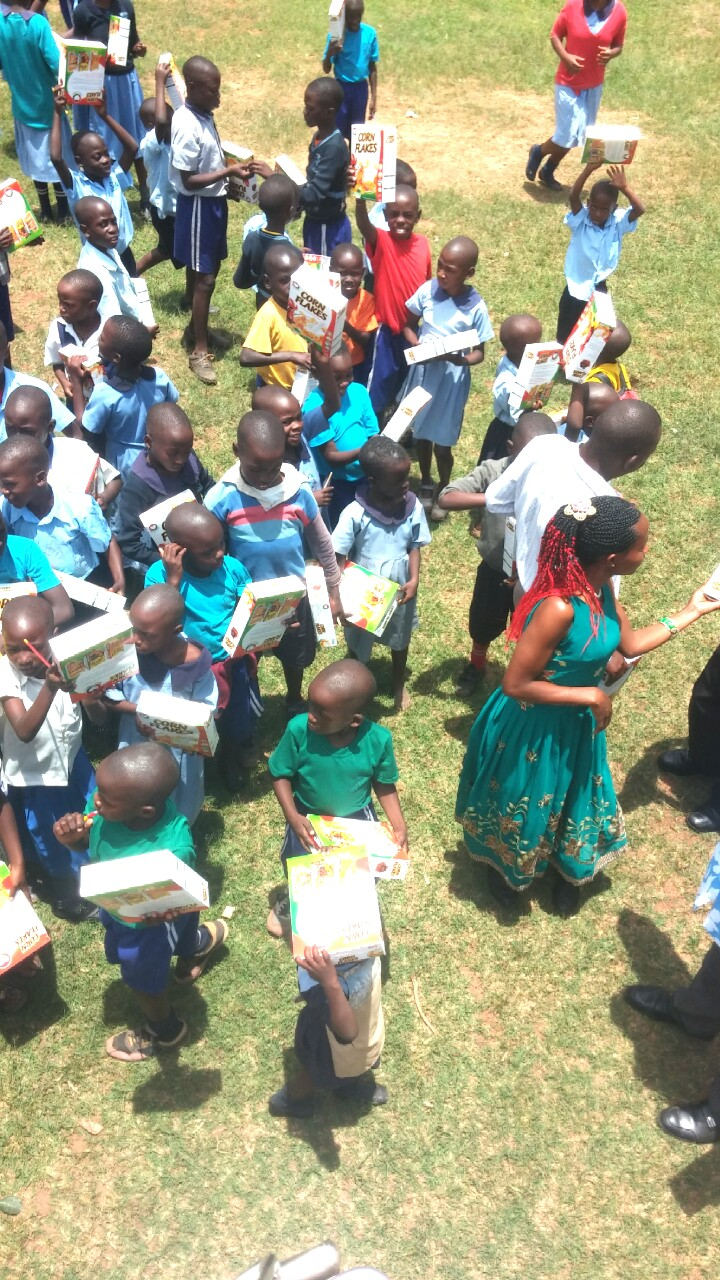 Reaching out tothe orphaned children of Kateete Primary school