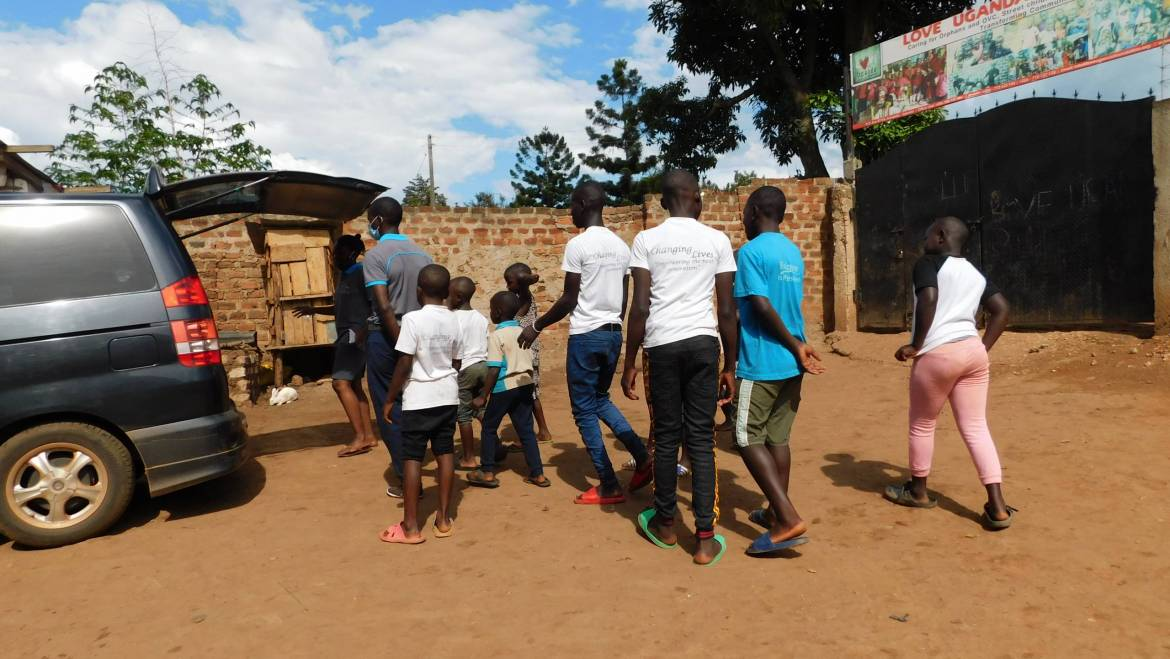 IRENE'S AMAZING MOMENT ON HER FIRST VISIT TO LOVE UGANDA ORPHANAGE